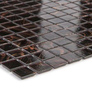 Mozaika szklana 4mm 65547 CIEMNOBRĄZOWO-MIEDZIANA