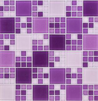 Mozaika szklana 4mm 54275 FIOLETOWA / VIOLET MULTI MIX