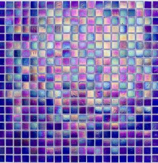 Mozaika szklana 4mm 65530 CIEMNONIEBIESKA / PERŁOWA
