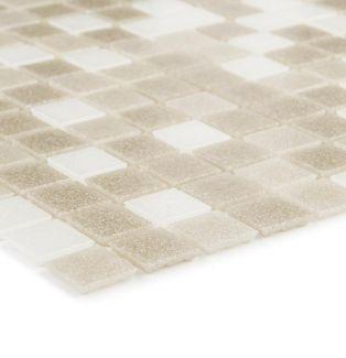 Mozaika szklana 4mm 28528 BEŻOWO-BIAŁA / BEIGE-WHITE MIX
