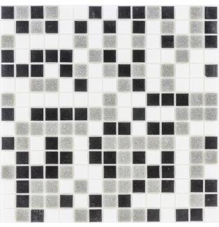 Mozaika szklana 4mm 28542 CZARNO-SZARO BIAŁA
