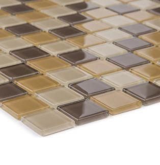 Mozaika szklana 4mm 41046 BRĄZOWA MIX / BRAUN MIX