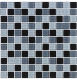 Mozaika szklana 4mm 41060 SZARO-CZARNA MIX / GRAU-SCHWARZ MIX