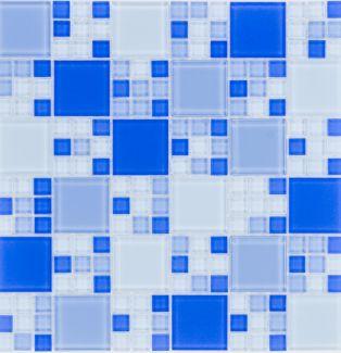 Mozaika szklana 4mm 53162 NIEBIESKA / BLAU MULTI MIX