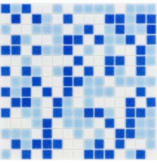 Mozaika szklana 4mm 03162 NIEBIESKO-BIAŁA / BLAU WEISS MIX