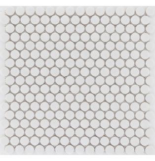 Mozaika ceramiczna 41190 BIAŁA GUZIKOWA POŁYSK / WEISS