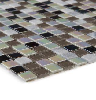 Mozaika 66360 CZARNO-SZARO-PERŁOWA / KAMIEŃ / SZKŁO
