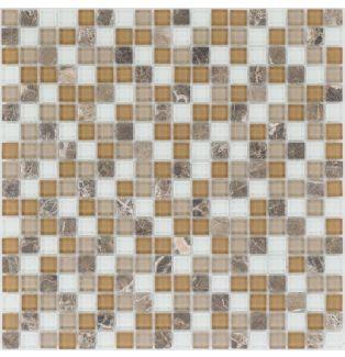 Mozaika szklano-kamienna 54305 BRĄZOWO-BEŻOWA / MARMUR / SZKŁO
