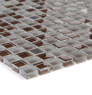 Mozaika szklano-kamienna 47871 BRĄZOWO-STALOWA / SZKŁO