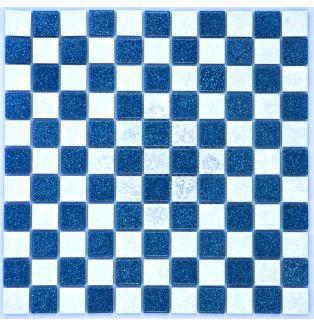 Mozaika ceramiczna 05049 NIEBIESKO-BIAŁA / MAT I POŁYSK