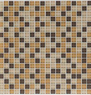 Mozaika szklana 4mm 53186 BRĄZOWO-BEŻOWA MIX