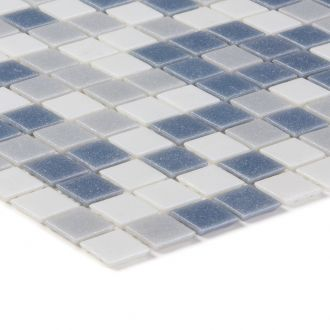Mozaika szklana 4mm 03164 SZARO-BIAŁA