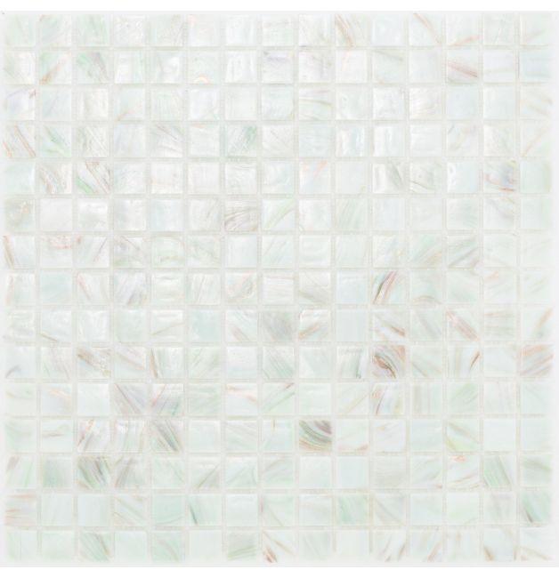 Mozaika szklana 4mm 03205 ZIELONO-BIAŁO-MIEDZIANA