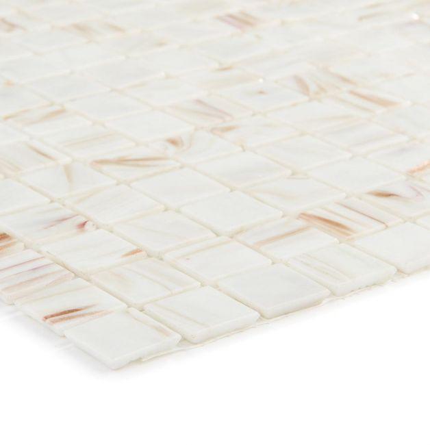 Mozaika szklana 4mm 03207 BIAŁO--MIEDZIANA