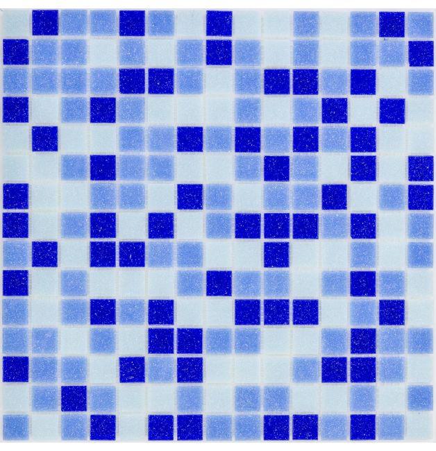 Mozaika szklana 4mm 27217 CIEMNONIEBIESKA / BLUE-DARK MIX