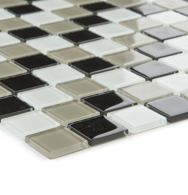 Mozaika szklana 4mm 53193 CZARNO-BEŻOWO-BIAŁA