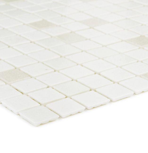 Mozaika szklana 4mm 29648 BIAŁA MIX / WHITE MIX