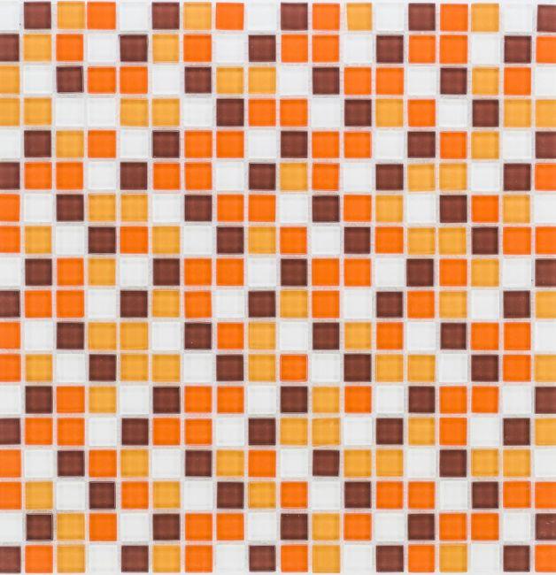 Mozaika 53179 POMARAŃCZOWO-BRĄZOWO-BIAŁA MIX