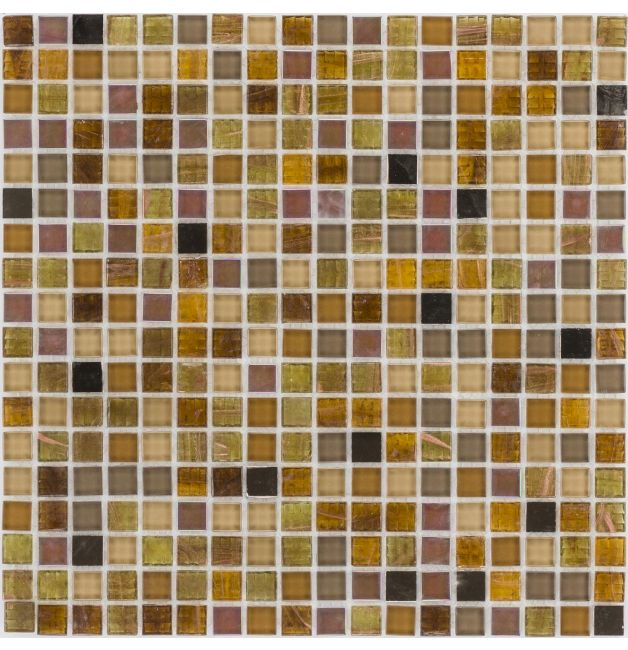 Mozaika szklana 4mm 66353 BRĄZOWO-BURSZTYNOWA / PERŁOWA