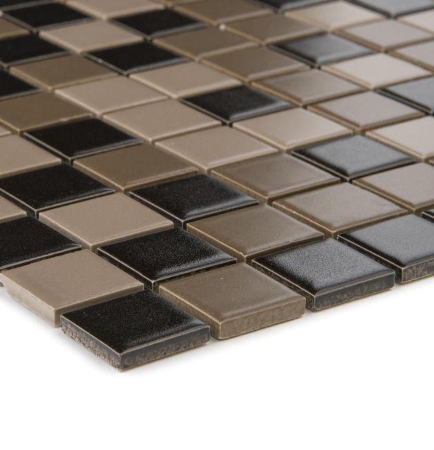 Mozaika ceramiczna 29624 CZARNO-BRĄZOWA / MIX MATT