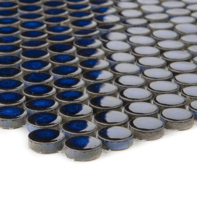 Mozaika ceramiczna 41183 GRANATOWA GUZIKOWA POŁYSK