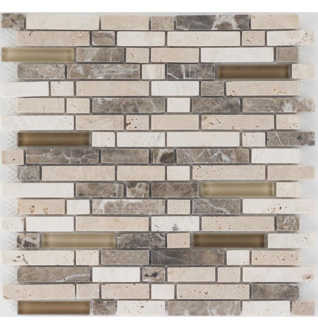Mozaika 66421 BEŻOWO-BRĄZOWA / TRAWERTYN / MARMUR