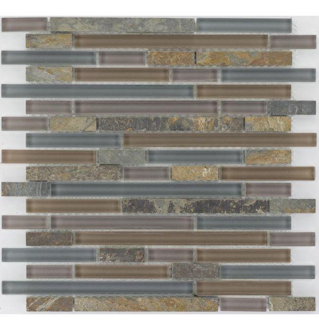 Mozaika szklano-kamienna 66247 MULTIKOLOR / ŁUPEK / SZKŁO