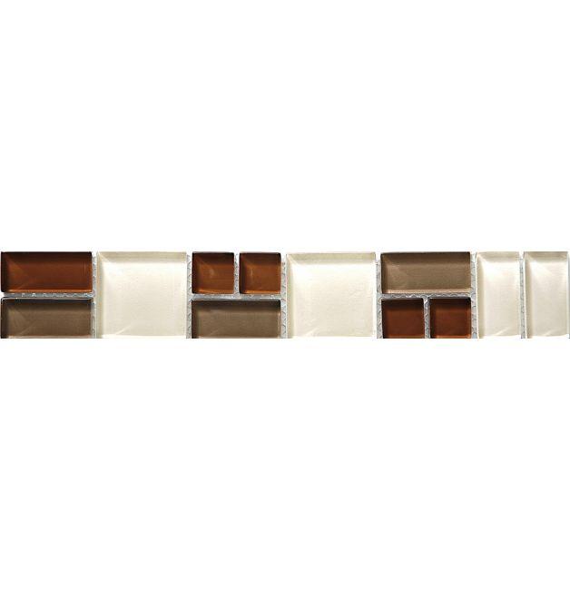 Listwa szklana 8mm 34277 BRAUN-BEIGE MIX