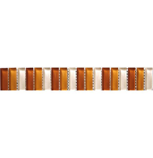 Listwa szklana 8mm 33751 POMARANCZOWO-ŻÓLTO-BIAŁA MIX