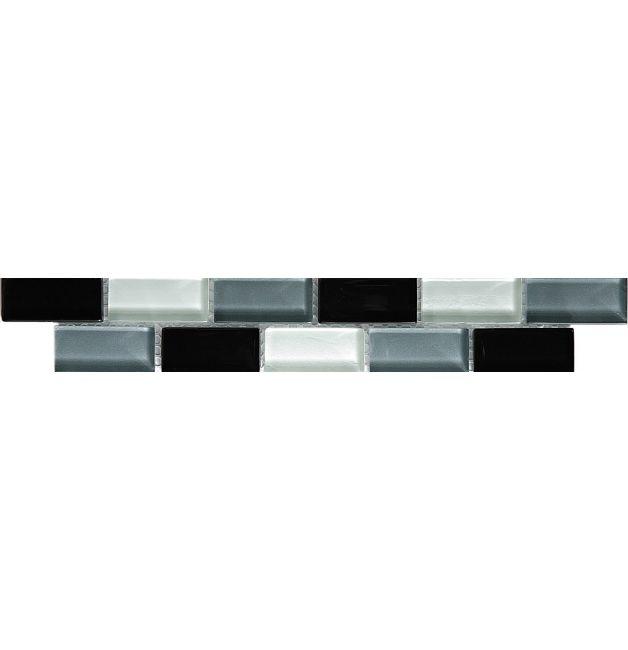 Listwa szklana 8mm 33638 SCHWARZ-GRAU-WEISS MIX
