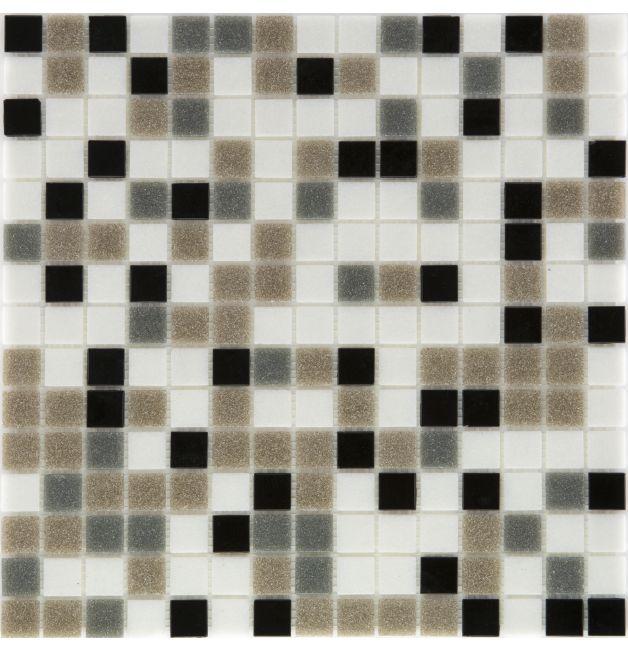 Mozaika szklana 4mm 28535 CZARNO-SZARO-BRĄZOWA
