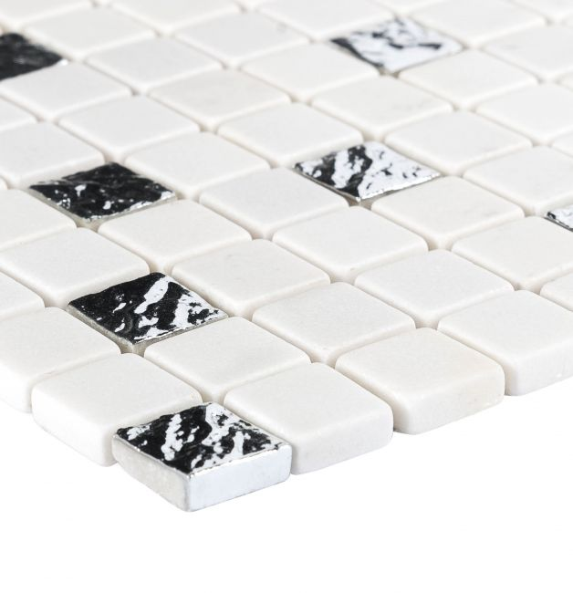 86436 mozaika marmurowa ROMA SILVER