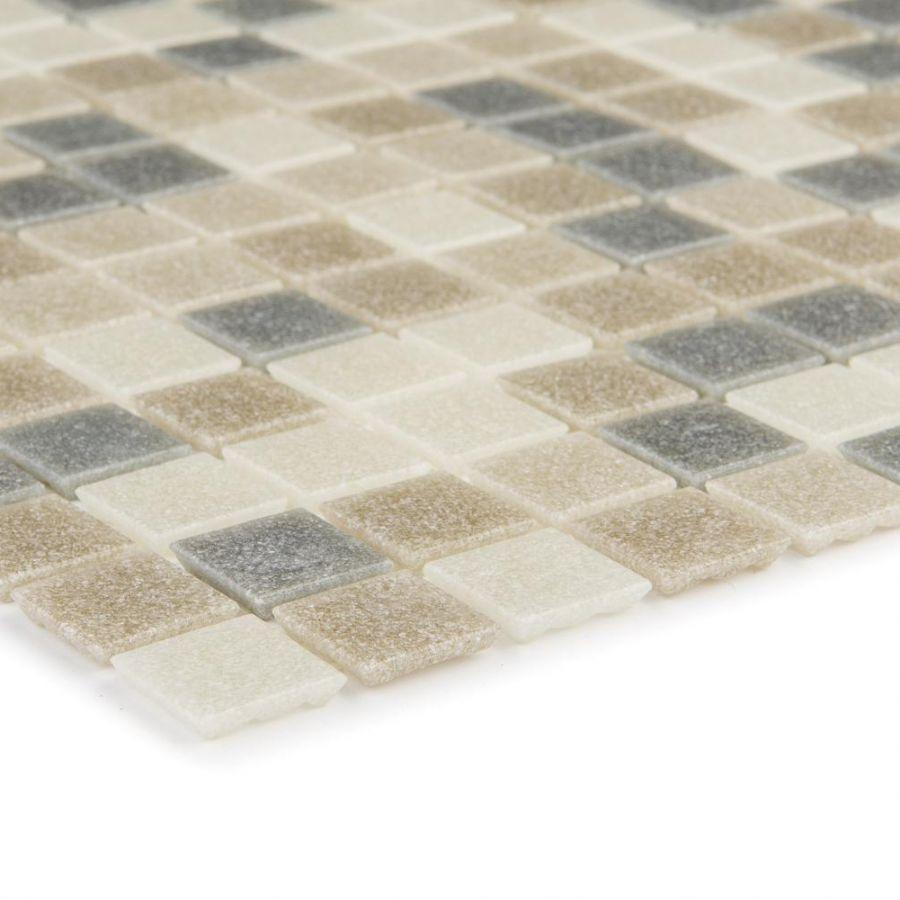 Mozaika szklana 4mm 29631 SZARO-BRĄZOWO-BEŻOWA /  MIX