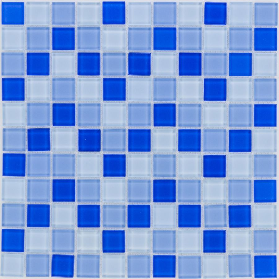 Mozaika szklana 4mm 41039 NIEBIESKA MIX / BLAU MIX
