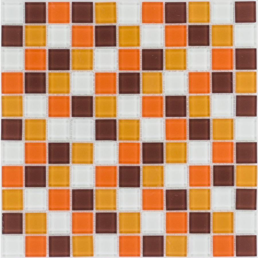 Mozaika 4mm 41077 CZERWONO-POMARAŃCZOWO-BRĄZOWO-BIAŁA