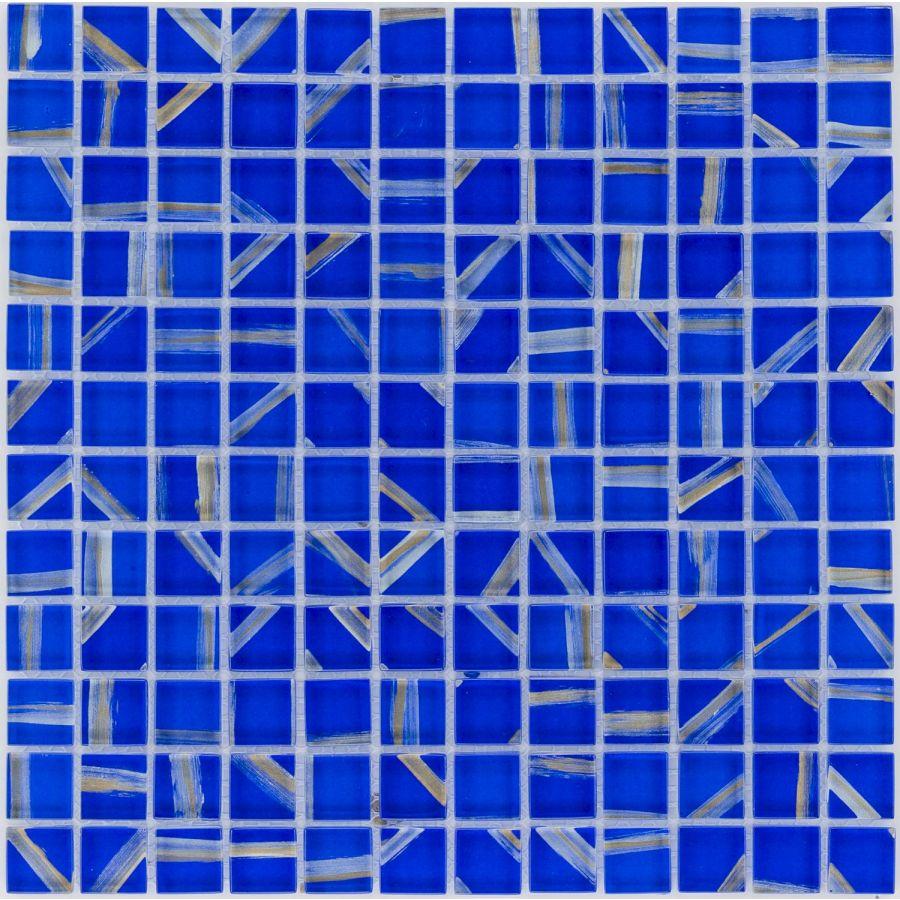 35595 NIEBIESKO-SREBRNA / ART DECO / WAVE