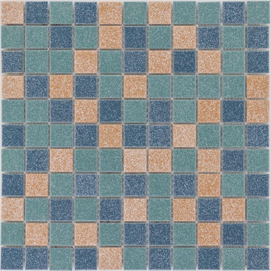 Mozaika 05050 NIEBIESKO-ZIELONO-BEŻOWA / MAT I POŁYSK