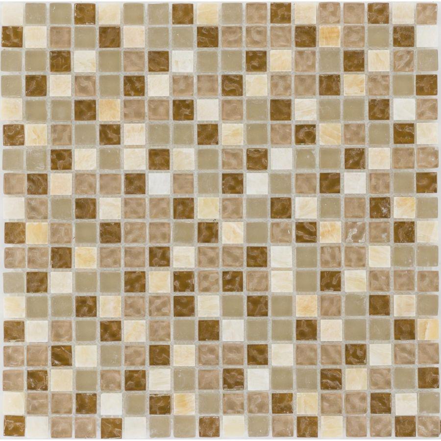 Mozaika szklano-kamienna 47888 BEŻOWO-PERŁOWA / MARMUR / SZKŁO
