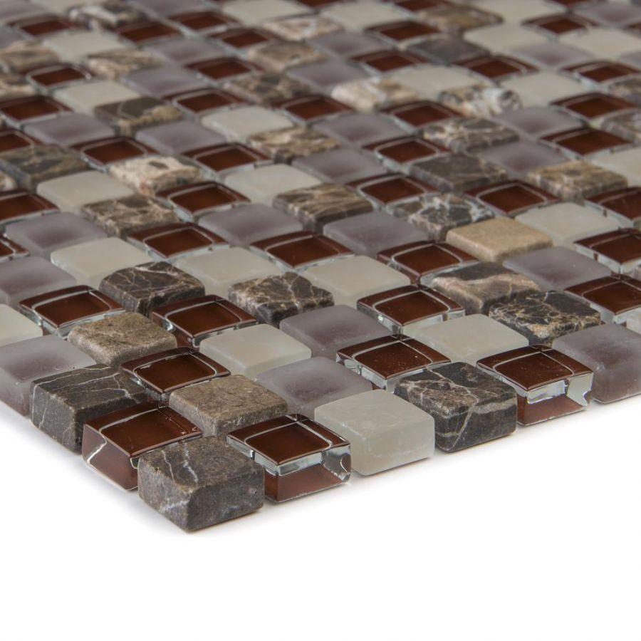 Mozaika szklano-kamienna 47932 BEŻOWO-BORDOWA / MARMUR JAVA