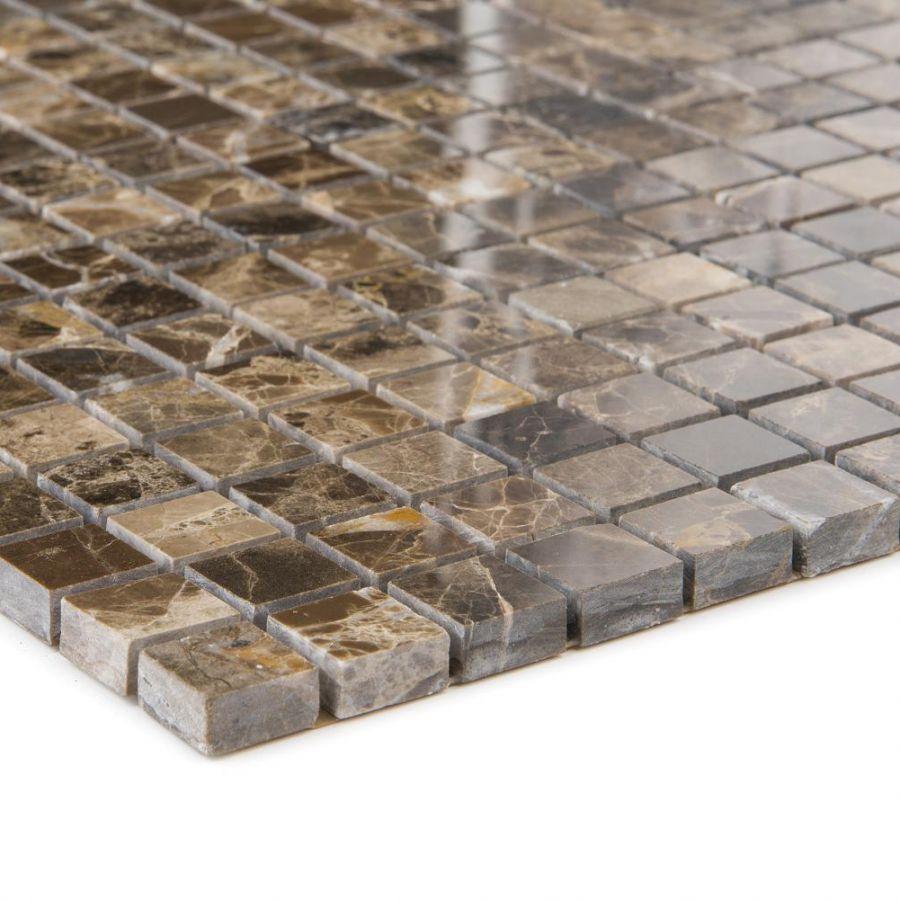 Mozaika kamienna 66100 BRĄZOWA / MARMUR /  polerowana