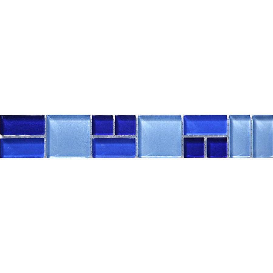 Listwa szklana 8mm 34307 NIEBIESKA  MIX